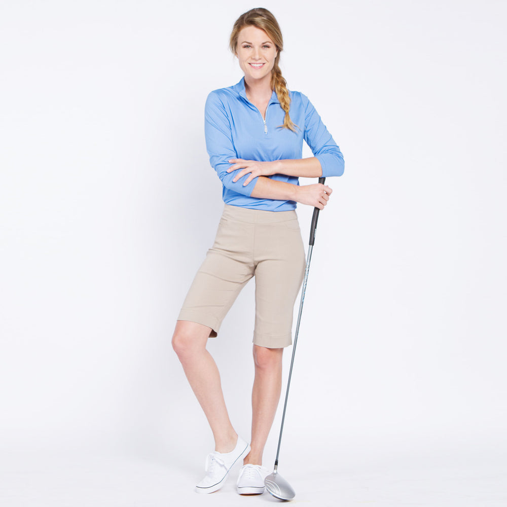 Pull On Solid Golf Walking Short - Stone