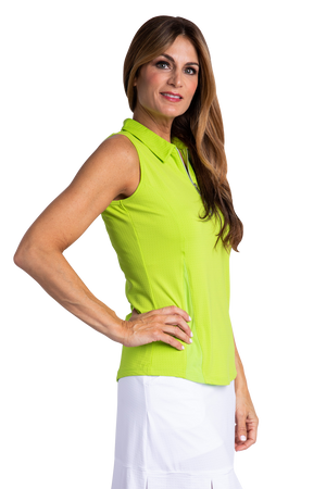 Bette & Court Wander Polo - Lime