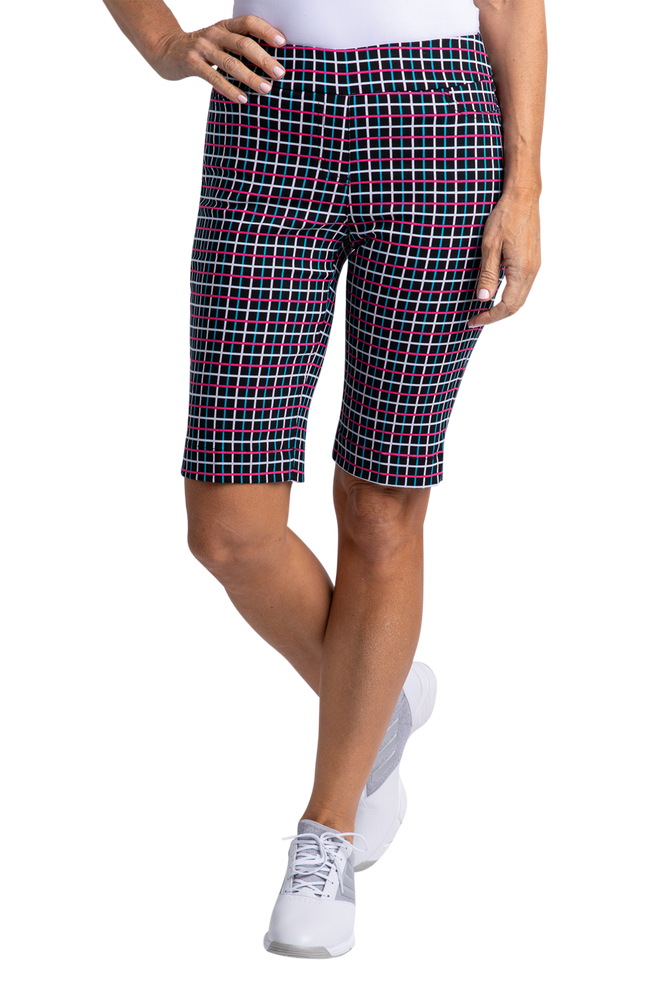 Slimsation Print Short - Black Plaid