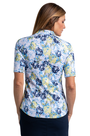 Magnolia Elbow Sleeve Print Polo