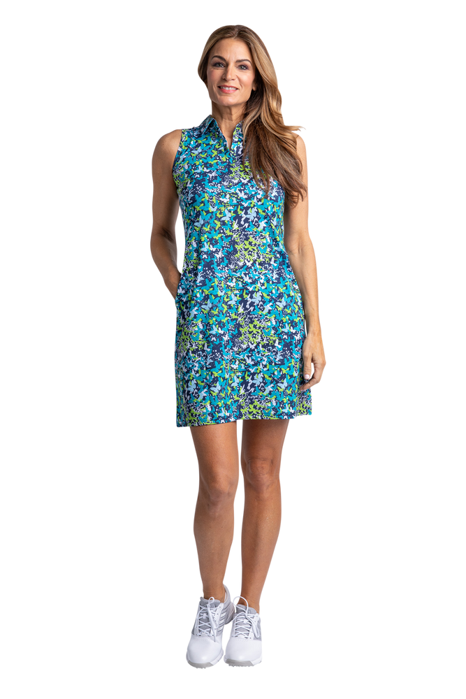 Monarch Sleeveless Print Dress