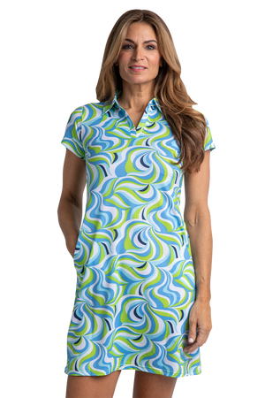 Groovy Short Sleeve Print Dress