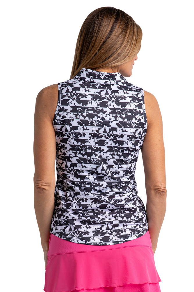 Flora Sleeveless Print Polo
