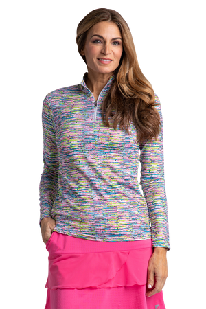 Borealis Long Sleeve Print Polo