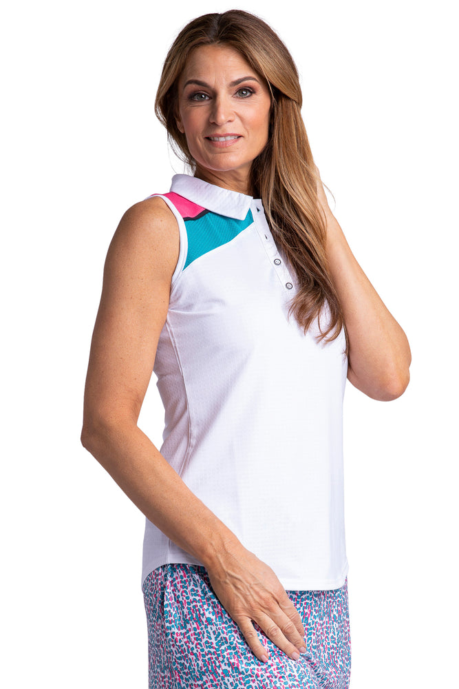 Bette & Court Rise Sleeveless Polo