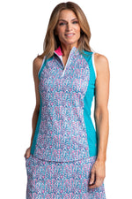 Bette & Court Allure Sleeveless Polo
