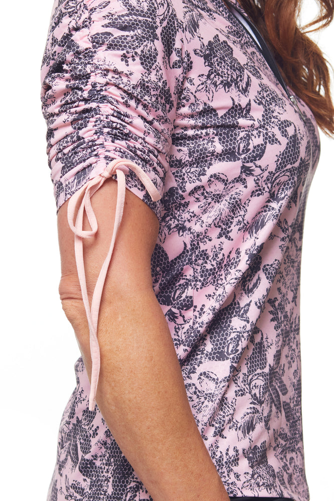 Cabriole Elbow Sleeve Mock