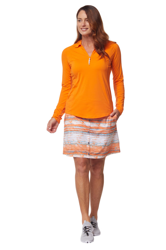 Vista Skirt- Orange Crush