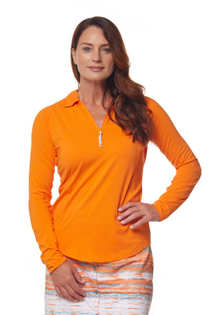 Sunscape Polo - Orange Crush
