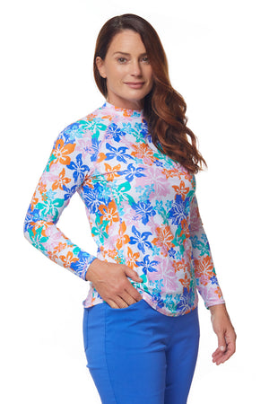 Seaside Crew Swim Shirt - Multi Floral