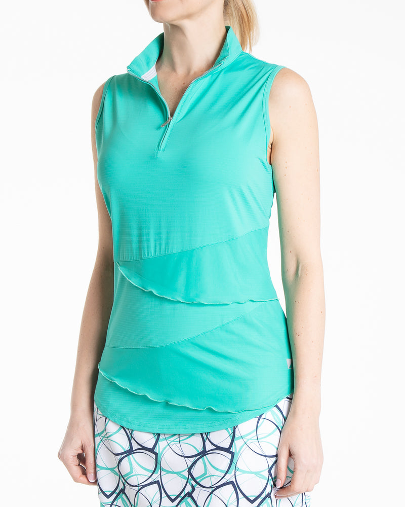 Synergy Sleeveless Polo - Jade
