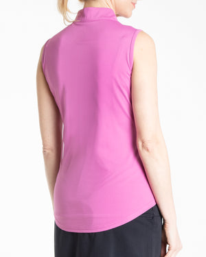 Synergy Sleeveless Polo - Mulberry