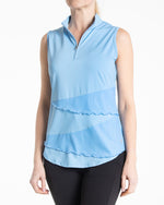 Synergy Sleeveless Polo - Bay Blue