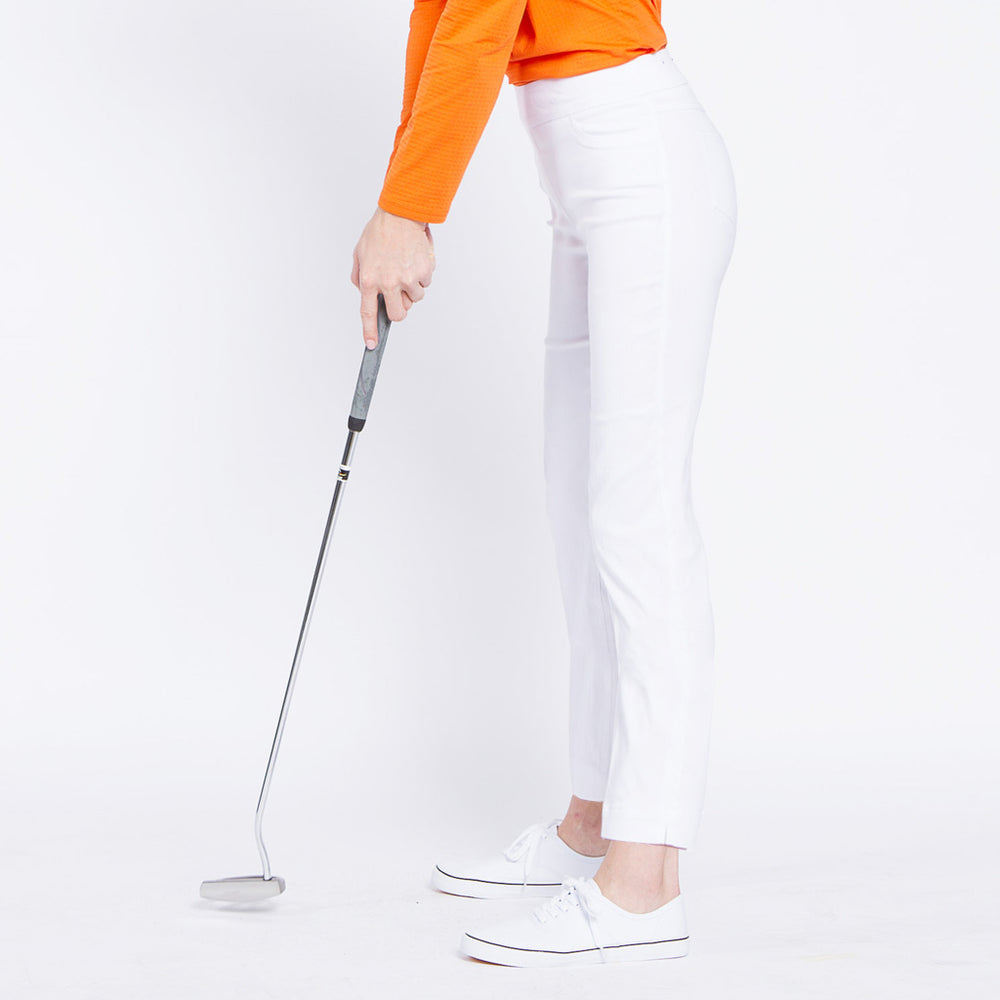 Pull On Golf Ankle Pant - White