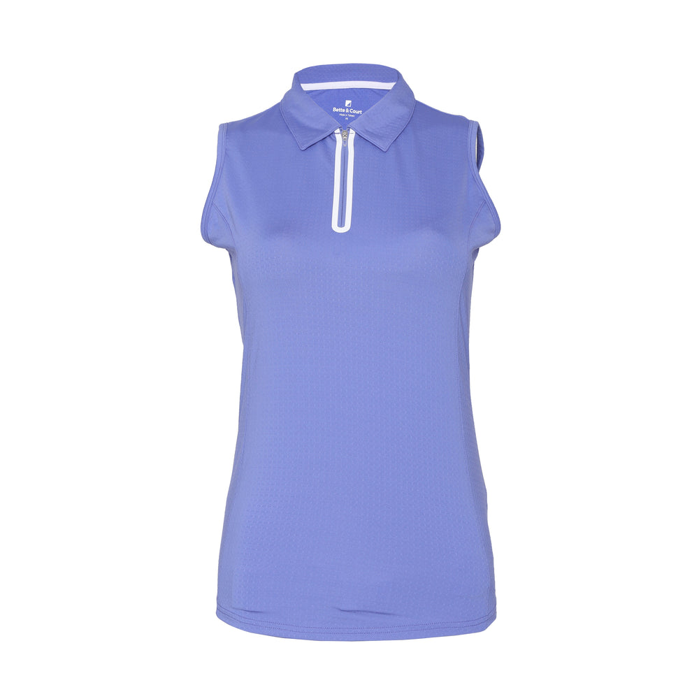 Utopia Sleeveless Solid Polo - Periwinkle