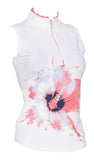 Floral Burst Sleeveless Polo
