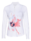 Floral Burst Long Sleeve Polo