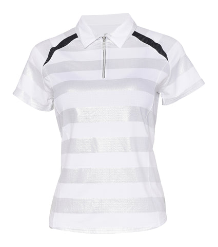 Constellation Short Sleeve Foil Stripe Polo