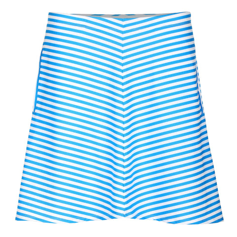 Sunscape Stripe Print Pull On Skirt