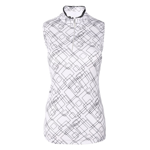 Plank Sleeveless Print Polo