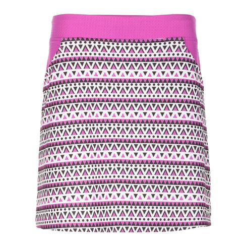 "Harmony Print 18"" Pull On Skirt"