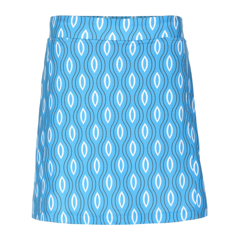 Crossroads Pull On Print Skirt (Zip Pockets)