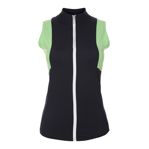 Ease Sleeveless Colorblock Polo