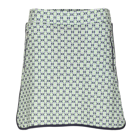 "Buckle Pull On Print 18"" Skirt"