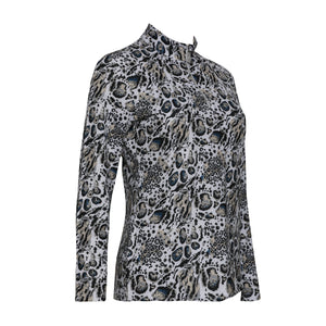 Eros Long Sleeve Print Polo