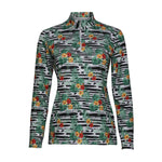 Leilani Long Sleeve Print Polo