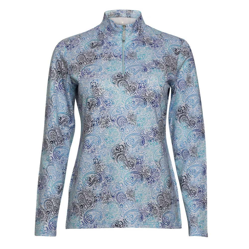 Willow Long Sleeve Print Polo