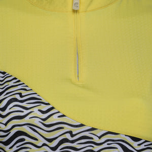 Flare Long Sleeve Print Polo