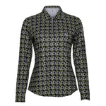 Dawn Long Sleeve Print Polo
