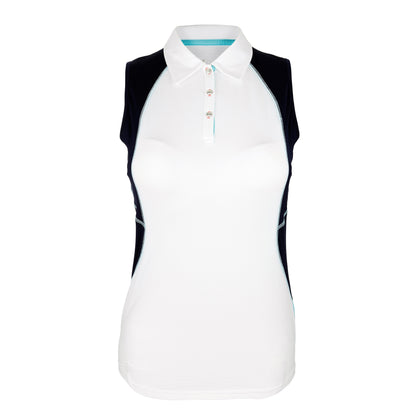 Active Sleeveless Print Polo