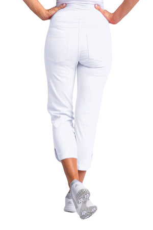 Slimsation Dolphin Crop Pant - White
