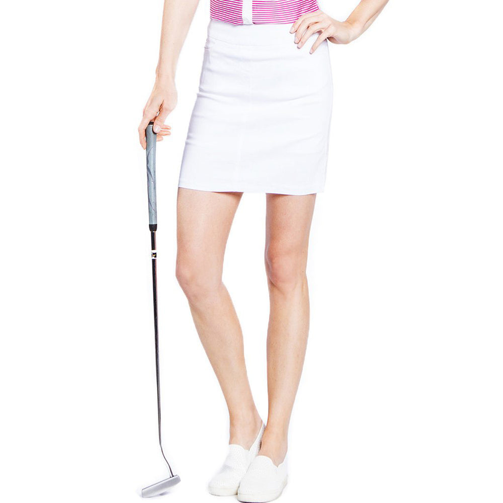 Golf Skort With Front And Back Pockets - White