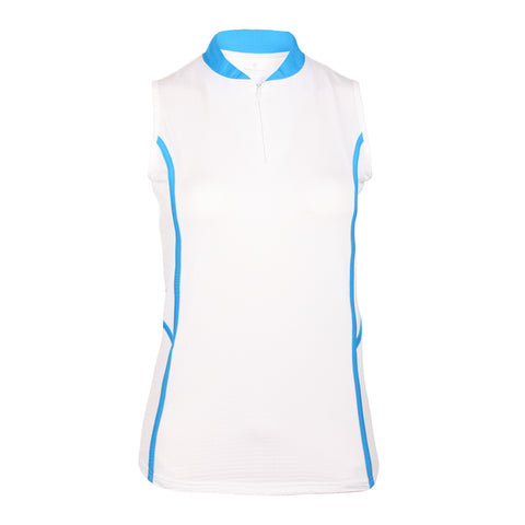 Essence Sleeveless Solid Polo
