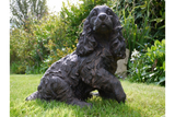 Cocker Spaniel Dog Statue Figure Indoor Outdoor Use 40 cm High