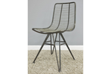 Pair of Metal Wire Style Chairs Gunmetal Grey Industrial Style 86 x 39 x 51 cm