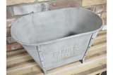 Galvanised Farmers Market Display Tub Planter