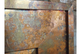 Mottled Copper Finish Metal Frame Wall Mirror 91 x 122 cm x 4 cm Deep