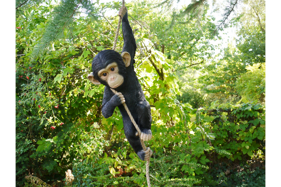 Climbing Monkey Baby Chimpanzee Garden Home Ornament Tree Hanging Figure