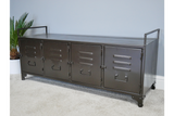 Industrial Style Wide Metal Sideboard Cabinet Cupboard