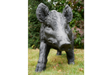 Large Black Wild Boar Pig Garden Ornament Outdoor Or Indoor 100 cm Long