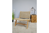 Wood & Rattan Retro Vintage Style Chair