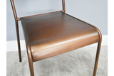 Set of Four Vintage Brushed Copper Chairs