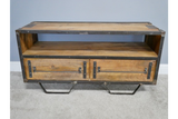 Mango Wood & Iron Media Unit TV Entertainment Stand