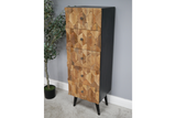 Iron & Mango Wood Wood Tallboy Honeycomb Chest of Drawers 126 x 48 x 38 cm