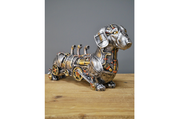 Steampunk Dachshund Sausage Dog Figure Ornament