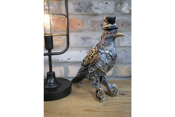 Steampunk Bird / Crow Figure Ornament 27 cm High